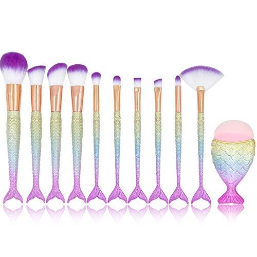 Ensemble D'Outils De Maquillage De 11 Brosse À Pinceau De Maquillage Scatter Brosse Brosse À Brosse À Brosse 20Cm Poignée Éblouissante 3D - Cheveux Violets