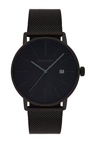 Gigandet Herren Analog Quarz Uhr mit Edelstahl Armband G42-007