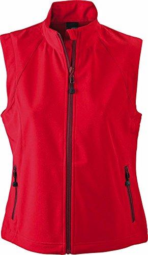 Modische Softshellweste für Damen, Farbe:red;Größe:L