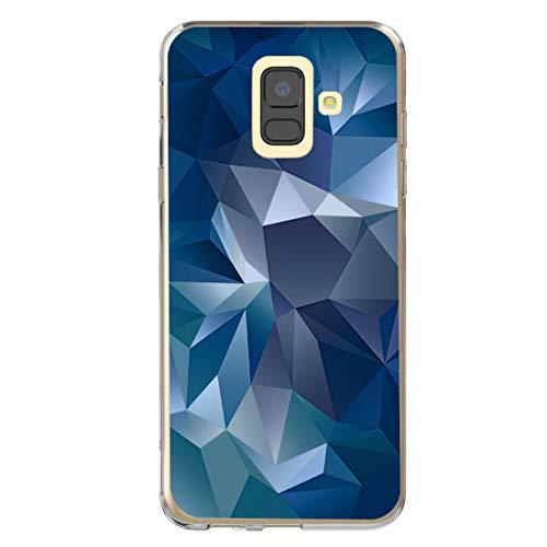 Case Kompatibel mit Samsung Galaxy A6 2018 Hülle, Marmor Design Hochwertig Weich Silikon Ultradünn Cover Handyhülle Kratzfest Handy Schutzhülle Anti-gelb Bumper Cover für Galaxy A6 2018 (4)