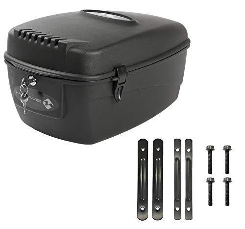 P4B | Abschliessbarer Fahrradkoffer für Gepäckträger - Box für Ihr Fahrrad | 17 Liter Fassungsvermögen | Montage am Gepäckträger | Fahrradkoffer hinten