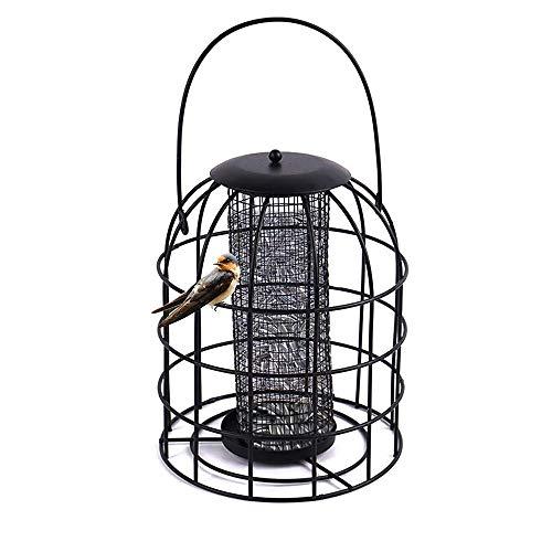 WSXD Alimentador de pájaros al aire libre de Hierro Jaula alimentador del pájaro salvaje bola de masa hervida Colgando automático alimentación de aves herramienta para evitar que otros animales se com