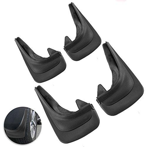 4Stück Universal-Auto-Schmutzfänger, vorne, hinten, Schutz, Gummi-Spritzschutz