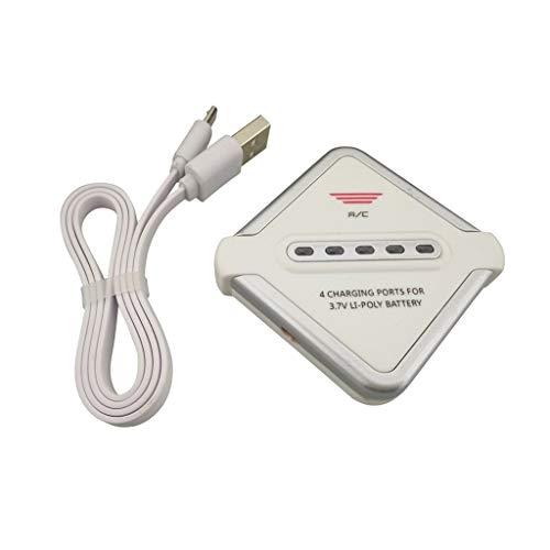 Drone Batteria accessori 3.7V JST Connettore Batteria al litio 4in1 Equilibrio Caricatore durevole per SYMA X56 X56W X54HW U818A H12C F181 8807W X8TW X300 X400 X800 H11C H11D Pezzi di ricambio per aer