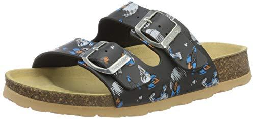 Superfit Jungen FUSSBETTPANTOFFEL_8-00111-00 Pantoffeln, Grau (Stone Multi 07), 24 EU