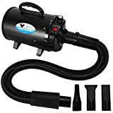 NEWTRY Pets Hair Force Dryer Stepless Adjustable Speed Temperature High Velocity Dog Cat