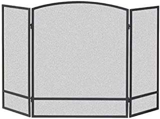 Panacea Products 15951 3-Panel Arch Screen with Double Bar for Fireplace, Multi