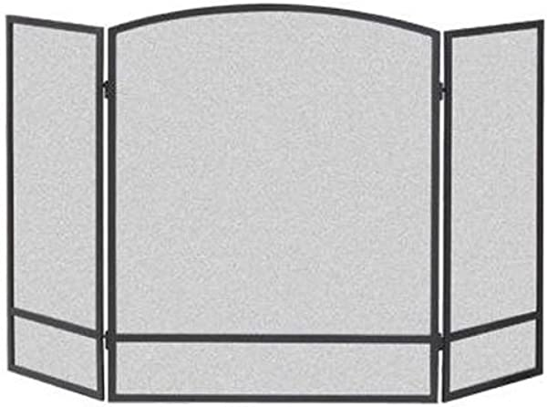 Panacea Products Not 15951 3 Panel Arch Screen With Double Bar For Fireplace Multi