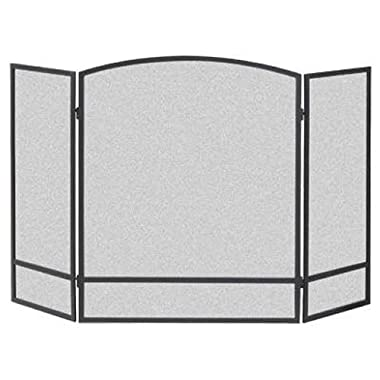 Panacea Products 15951 3-Panel Arch Screen with Double Bar for Fireplace
