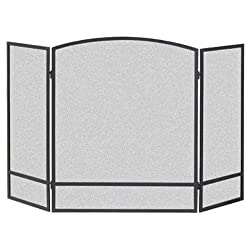 commercial Panacea Products 159512 9 inch 3 panel double arch fireplace screen fire screen material