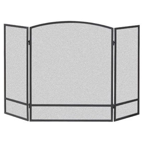 Panacea Products 15951 3-Panel Arch Screen with Double Bar for Fireplace, 29 Inch