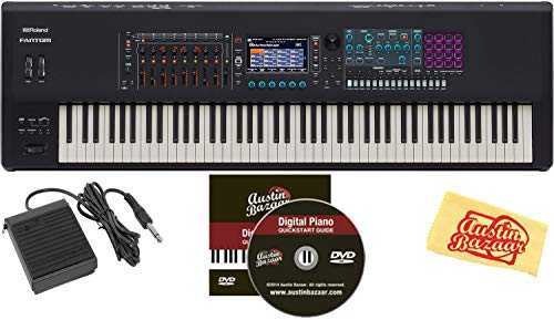 Find Bargain Roland Fantom 8 Synthesizer Keyboard Bundle with Sustain Pedal, Instructional DVD, and ...