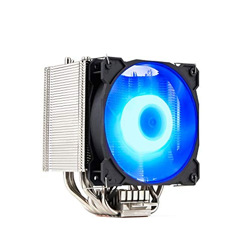 GELID SOLUTIONS Sirocco - Raffreddatore ad Aria CPU ad Alte Prestazioni con ventilatori PWM RGB | 6 Tubi di Calore | Nichel di Alta Classe | TDP 200W