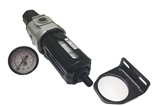 Mindman MAFR300(L)-10A-D-NPT air Filter Regulator, 3/8 Port Size NPT, auto Drain, 5 um Filter Element