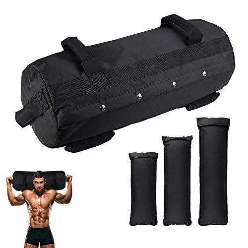 GTMOER Fitness Sandbags, Workout Sandbag for Fitness, Heavy-Duty Weight Training Sand Bag with Empty Filler Bags for Full Body Exercises (10-60lbs)