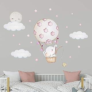 amazon com fabric wall letters \u0026 numbers nursery décorelephant nursery wall decal moon wall decal elephant balloon wall decal nursery balloon decor hot air