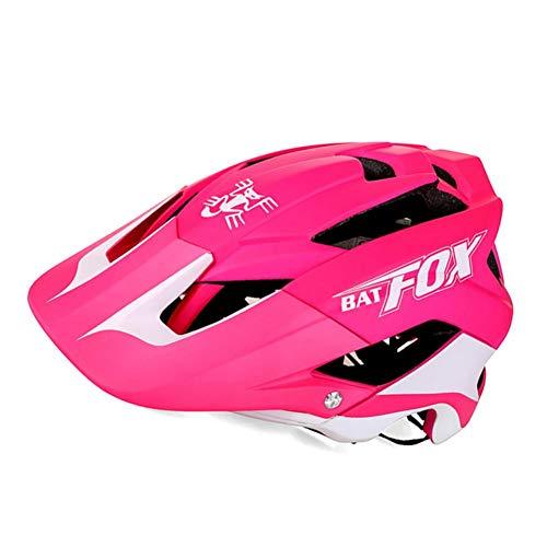 Fahrradhelm für MTB, Fahrrad, Skateboard, Scooter, Hoverboard-Helm für Fahrsicherheit, leicht, verstellbar, atmungsaktiv rosarot