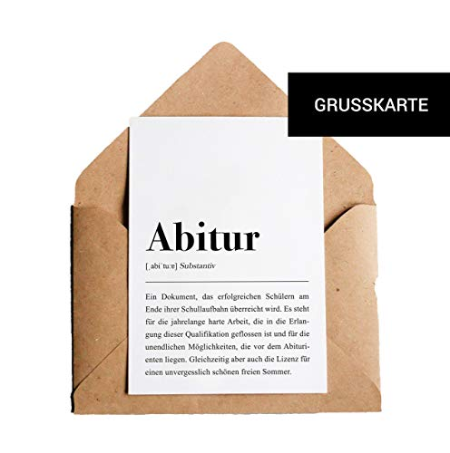 Abitur Definition: Grußkarte mit Umschlag