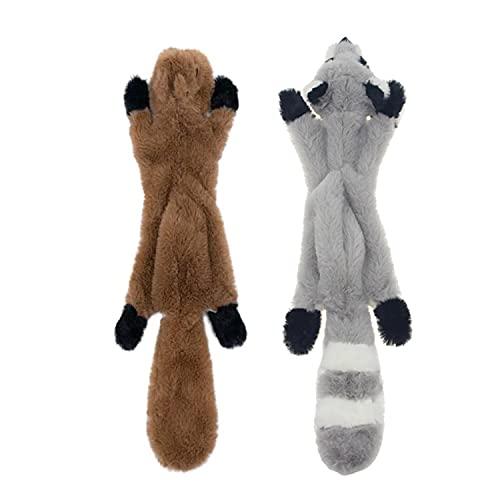 JINYJIA Juguete de Peluche para Perro - 2 Piezas Juguetes para Masticar con Perro sin Relleno, para Cachorros Perros Pequeños Mascotas 🔥