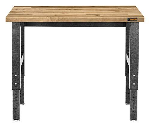 Gladiator Adjustable Height Hardwood Workbench