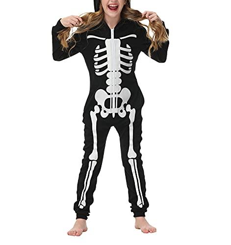 Halloween Family Costumes Set, Onesie Skeleton...