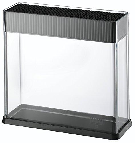 Kuhn Rikon 26594 Messerblock Vision ohne Messer, unbestückt, leer, für verschiedene Messer, schwarz, transparent