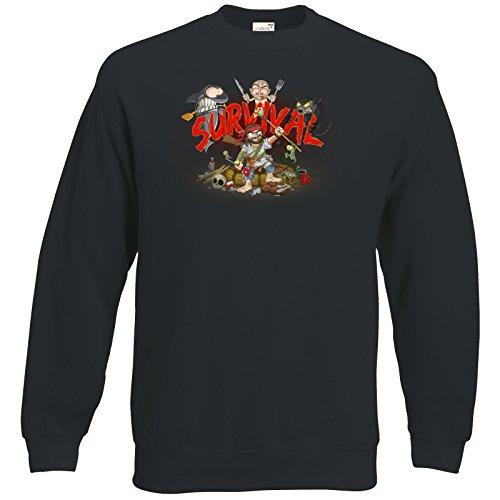 getshirts - Gronkh Official Merchandising - Sweatshirt - Survival - schwarz L