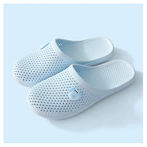 YHshop Pantuflas Playa Sandalias y Zapatillas para Mujer Verano Home Plastic Plastic Bag Hoot Hole Indoor Home Damas Baotou Zapatillas Sandalias (Color : B, Size : 39)
