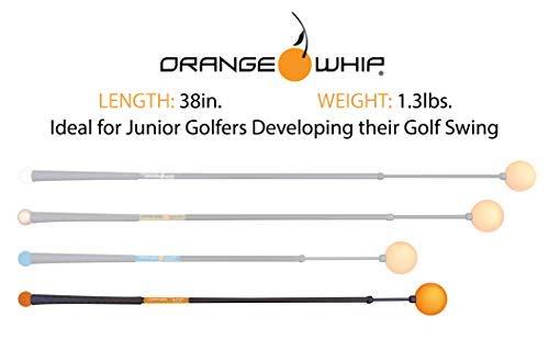 Orange Whip Junior Golf Swing Trainer Aid for Improved Rhythm, Flexibility, Balance, Tempo, and Strength - 38