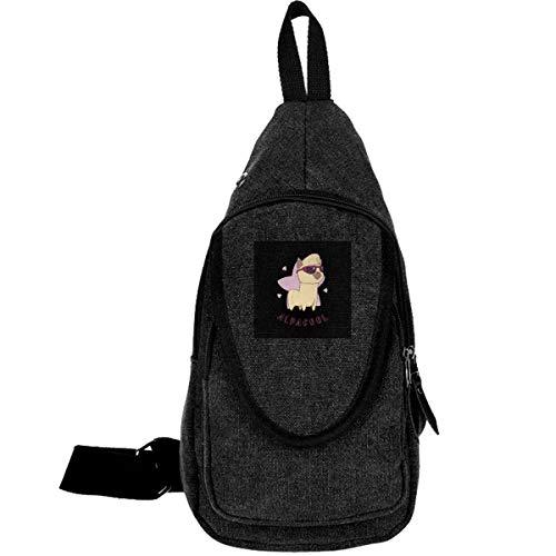 AHISHNF Alpacool Alpaka-Reise-Brusttasche für Herren und Damen, Mehrzweck-Tagesrucksack, Wandern, Schultertasche