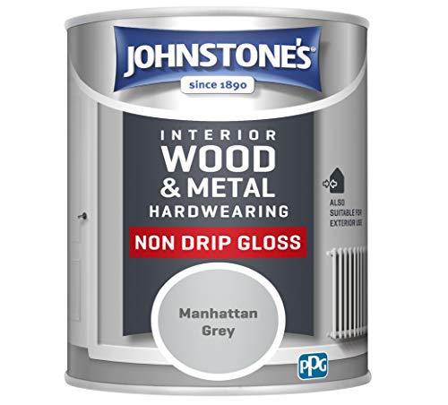 Johnstone's 307060 Hardwearing Non Drip Gloss, Manhattan Grey, 750ml