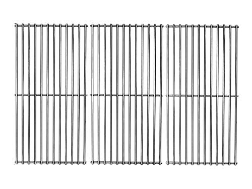 Votenli S6019C (3-Pack) 18 3/4' x 9 13/16' Each SUS304 Cooking Grid Grates for Kitchen Aid 720-0727, 720-0745, 720-0745A, 720-0819 Master Forge GCP-2601 Nexgrill 720-0745, 720-0745A