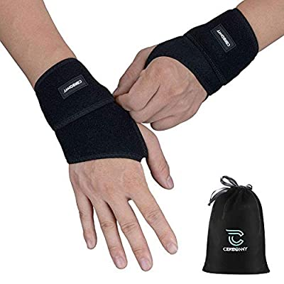 Carpal Tunnel Wrist Brace ,Cerbonny 2Pack Wrist Support Brace Adjustable Wrist Strap Reversible Wrist Brace for Sports Protecting/Tendonitis Pain Relief/Carpal Tunnel/Arthritis-Right&Left