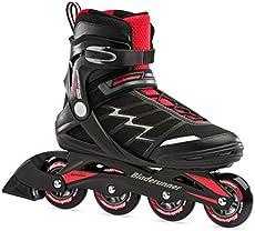 Bladerunner by Rollerblade Advantage Pro XT Men's Adult Fitness Inline Skate, Black and Red, Inline Skates , 9