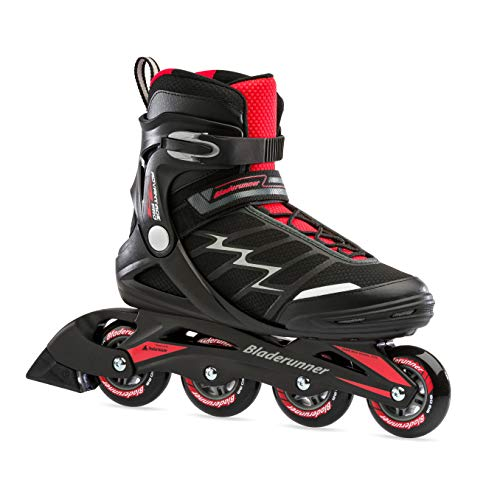 Bladerunner by Rollerblade Advantage Pro XT Men's Adult Fitness Inline Skate, Black and Red, Inline Skates ,10