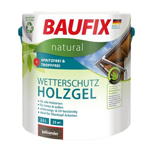 BAUFIX natural Wetterschutz-Holzgel palisander, 2.5 Liter, atmungsaktive Ökofarbe aus nachhaltiger Produktenb für außen & innen, vegan, witterungsbestöndig, UV-beständig, für alle Holzarten geeignet