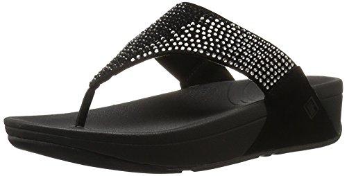 FitFlop Women's Flare Flip Flop,Black,8 M US