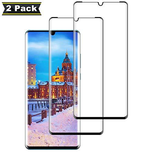 NASFUEY [2 Stück Panzerglas Bildschirmschutzfolie für Huawei P30 pro, 9H Festigkeit, Anti-Kratzen, 0.33mm Ultra-klar, Anti-Fingerabdruck, Ultrawiderstandsfähig, Anti-Bläschenm, Schutzfolie für Huawei P30 pro