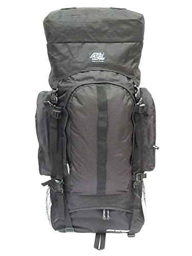 """34"""" 4700 cu. in. Tactical Hunting Camping Hiking Backpack HB001 BLACK"""