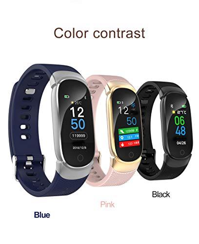 Lolobeauty Deporte Nuevo Reloj Inteligente de presión Hombres Mujeres Ritmo cardíaco Sangre podómetro Multi-función de la Aptitud del Reloj Tracker para Android,Rosado