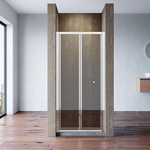 Neueröffnung 80cm Nische Falttür Pendeltür Dusche Duschabtrennung Echtglas links/rechts