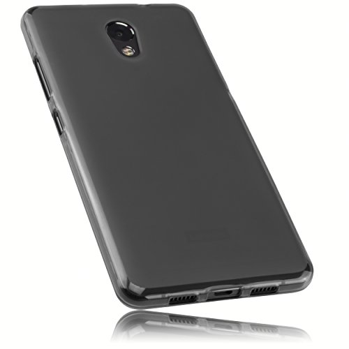 mumbi Hülle kompatibel mit Lenovo P2 Handy Case Handyhülle, transparent schwarz