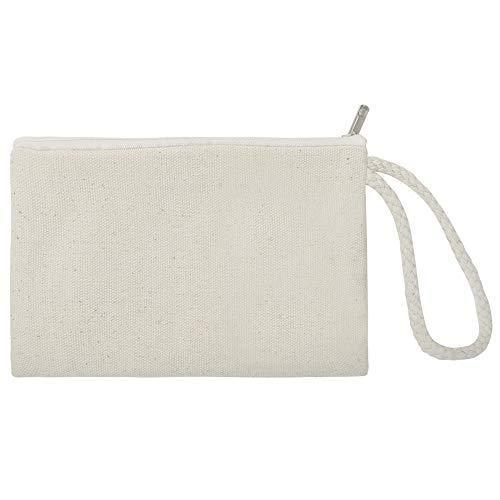 Apire, confezione da 60 sacchetti in tela di cotone 100% con cerniera, per bomboniere e bomboniere, 15,2 x 10,2 cm, Tela, Naturale, taglia unica