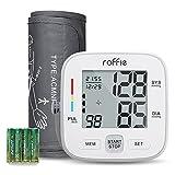 Roffie Tensiómetro de Brazo Digital Monitor Tipo de Banda para Brazo Digital Medidor de Presión Arterial Electrónico Mini Tamaño Ligero Portátil