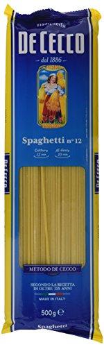 De Cecco Spaghetti Pasta - Paquete de 4 x 500 gr - Total: 2000 gr