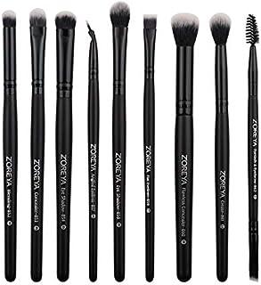 9 Pcs Rayon Makeup Brush Black Wooden Handle Eye Shadow Brush Set Beauty Tools