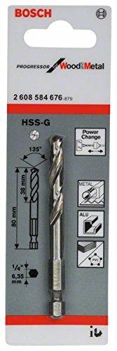 Bosch Professional Zentrierbohrer HSS-G für Lochsägen (Länge: 80 mm)
