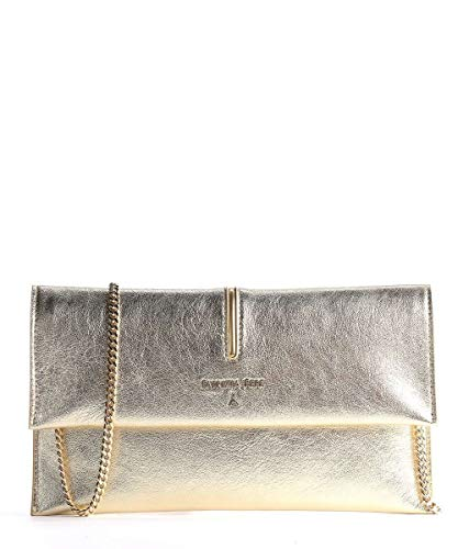 Patrizia Pepe Piping Clutch Gold