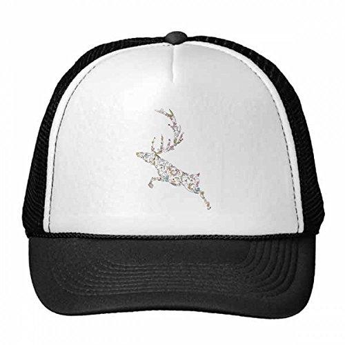 DIYthinker Ren-Weihnachts Pflanze Muster Trucker-Mütze Baseballmütze Nylon Mütze Kühle Kind-Hut-Justierbare Kappe Geschenk Kinder