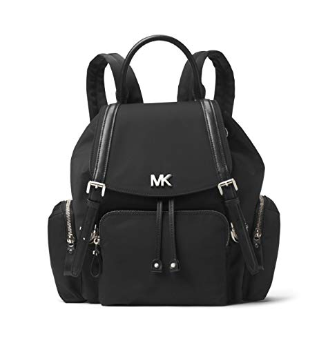 MICHAEL KORS Beacon - Mochila de nailon (tamaño mediano), Negro (Negro), Medium
